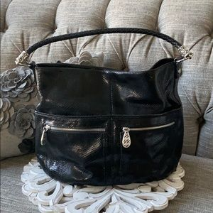 Brighton Black Leather Purse Handbag